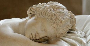 Hermaphrodit aus der Villa Borghese (Detail). Quelle: WikiCommons, Lizenz: gemeinfrei.