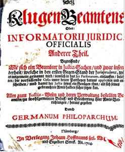 Des klugen Beamter [...] Anderer Theil, s.l. 1704.